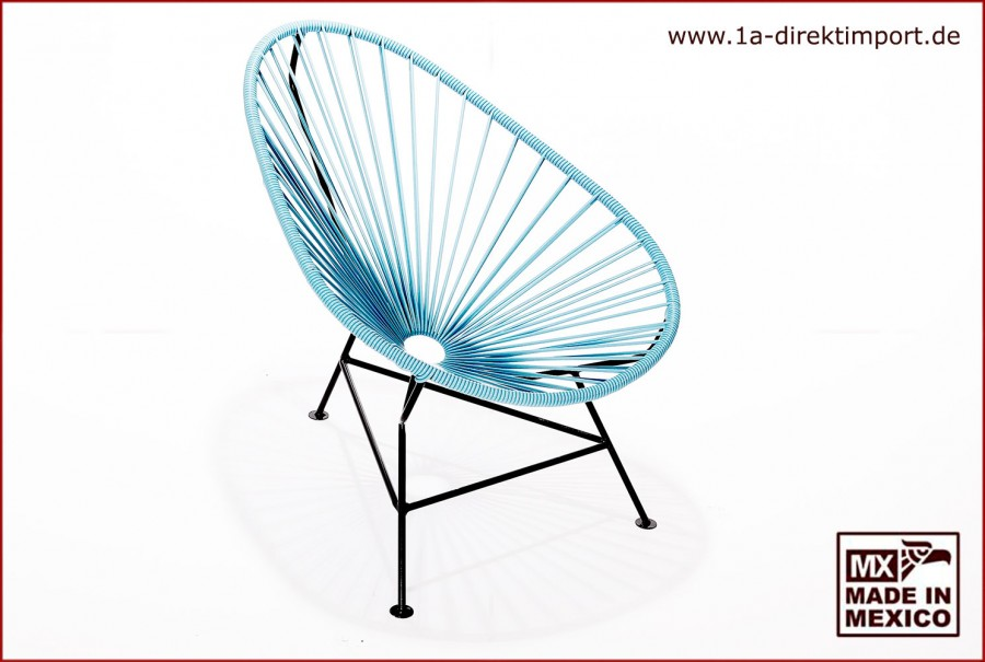 Acapulco Chair Kids - hellblau/schwarz
