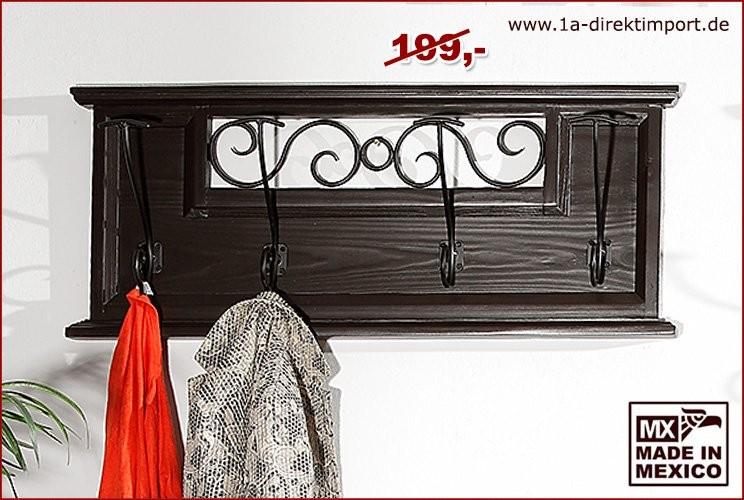 Garderobe mit Eisen - 4 Haken