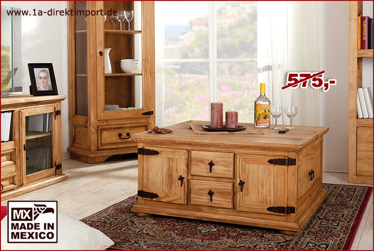 truhentisch aus mexiko 2 t ren 2 sch be mexico m bel. Black Bedroom Furniture Sets. Home Design Ideas