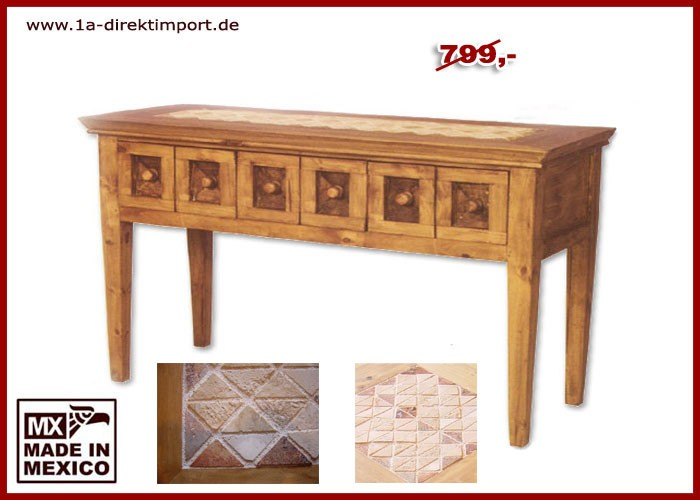 Konsole - Holz, Marmor