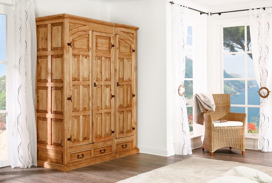 Kleider-/Dielenschrank, 3 Türen, rechts
