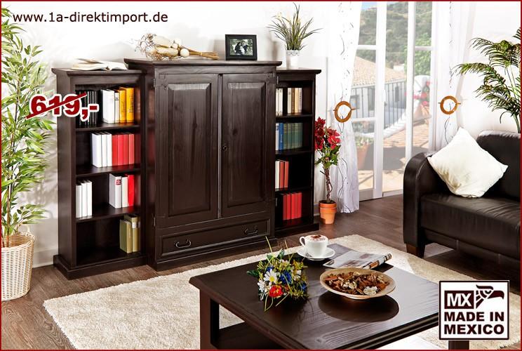 Set Seitenteile für Wohnschrank, je 3 Böden