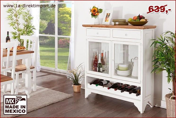 Barschrank - 2 Glastüren, 2 Schübe, Weinabl.