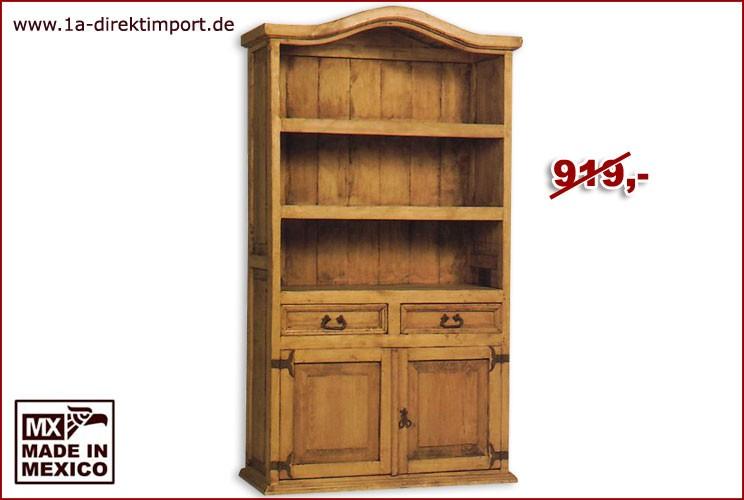 Bücherregal - 2 Türen, 2 Schübe, 2 Böden