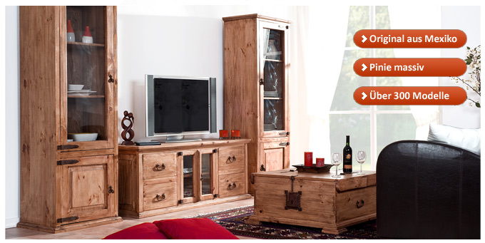 1a direktimport m bel und mehr aus mexico pinie. Black Bedroom Furniture Sets. Home Design Ideas