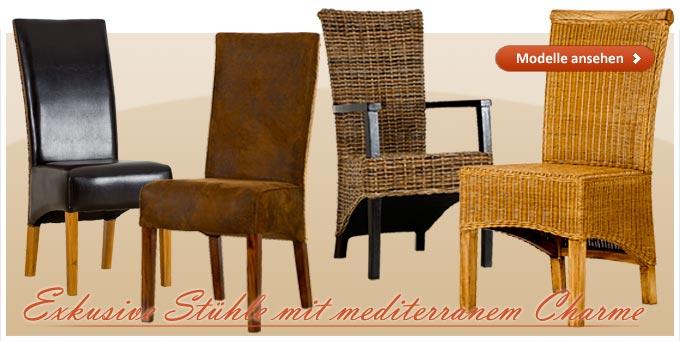 Mediterrane Esszimmerstühle, jetzt neu im Programm